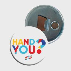 Badge decapsuleur Hand You