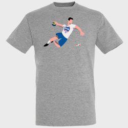 T-shirt GRIS Joueur Logo Biliere Handball Pau PyreneesGRIS Handball