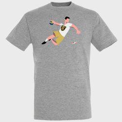 T-shirt GRIS Joueur Logo Dunkerque Handball Grand Littoral