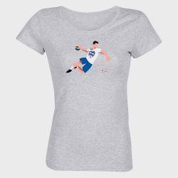 T-shirt Femme GRIS Joueur Logo Biliere Handball Pau PyreneesGRIS Handball