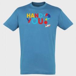T-shirt bleu Hand you ?