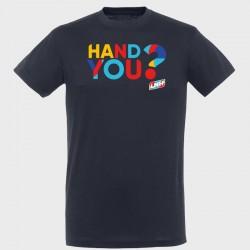 T-shirt marine Hand you ?
