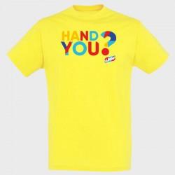 T-shirt jaune Hand you ?