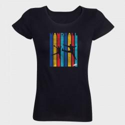 T-shirt femme noir Vintage