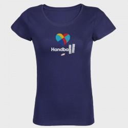 T-shirt femme marine Cœur