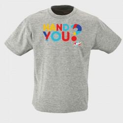 T-shirt enfant gris Hand you ?