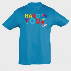 T-shirt enfant bleu Hand you ?