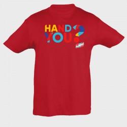 T-shirt enfant rouge Hand...