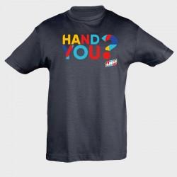 T-shirt enfant marine Hand...