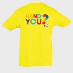 T-shirt enfant jaune Hand...